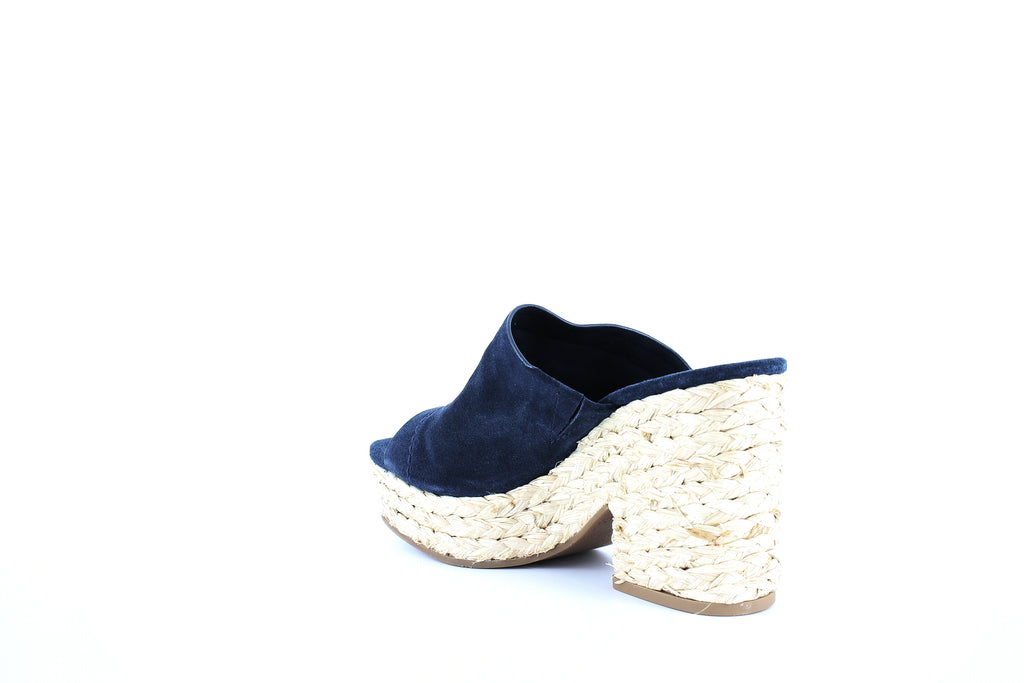Yieldings Discount Shoes Store's Theodore Platform Slide Sandals by Splendid in Navy Suede