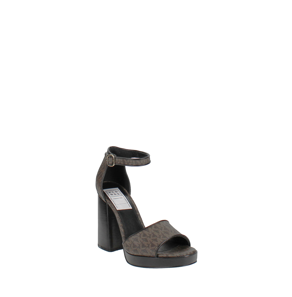 Yieldings Discount Shoes Store's Amal Platform Sandals by MICHAEL Michael Kors in Brown