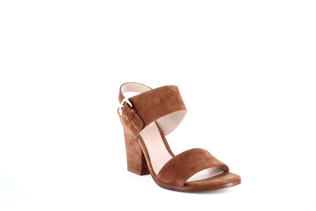 Yieldings Discount Shoes Store's Partisan Dress Sandals by Stuart Weitzman in Saddle Suede
