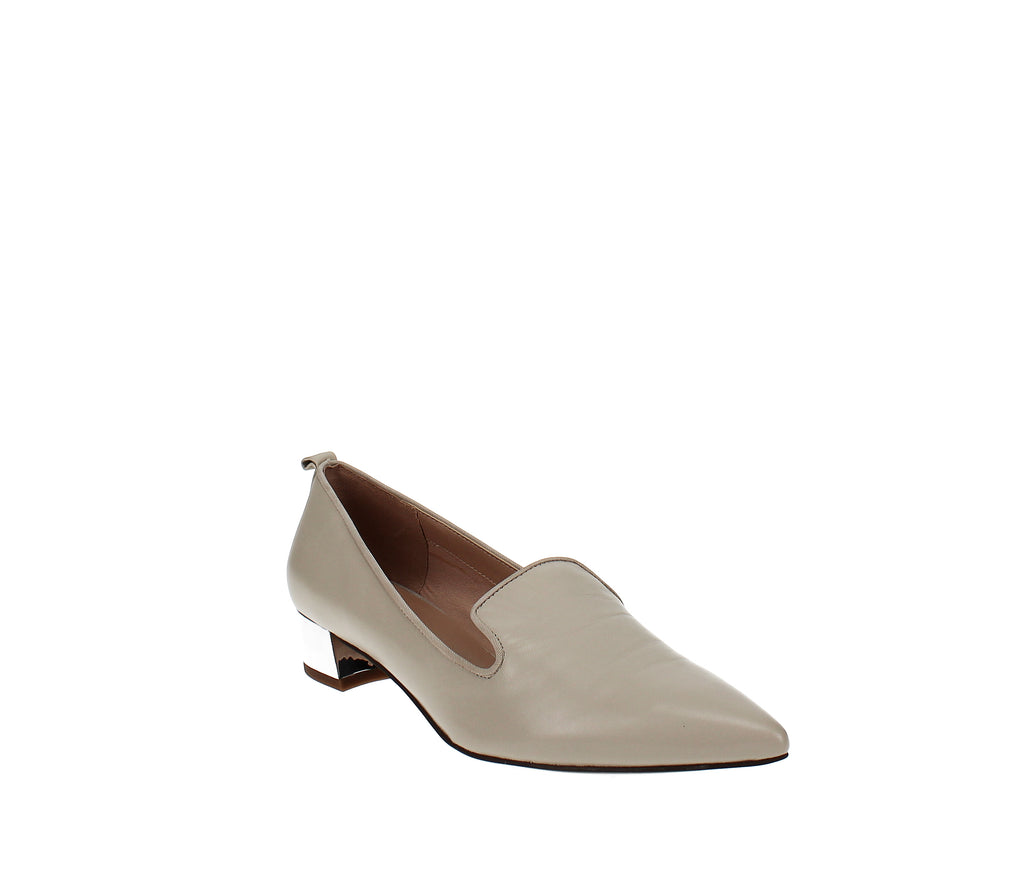 Yieldings Discount Shoes Store's Vianna Pointed-Toe Loafers by Franco Sarto in Ivory