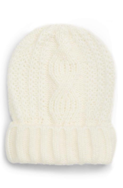 Yieldings Discount Accessories Store's Harlow Cable-Knit Beanie by Free People in Ivory