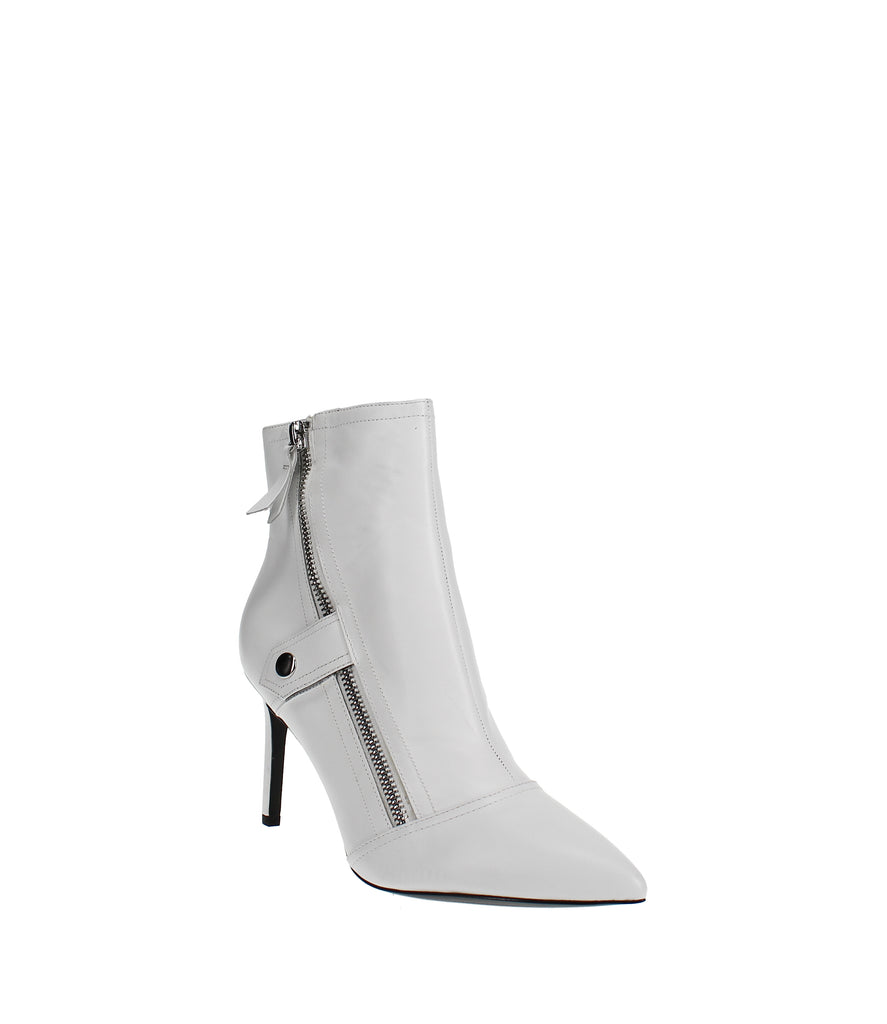 Yieldings Discount Shoes Store's Emette Dress Booties by Nine West in White