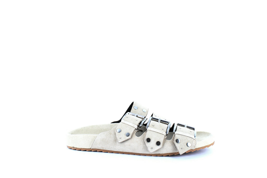 Yieldings Discount Shoes Store's Tania Slide Sandals by Rebecca Minkoff in Sahara