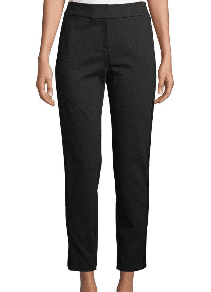Calvin Klein | Faux-Leather Stripe Ankle Pants