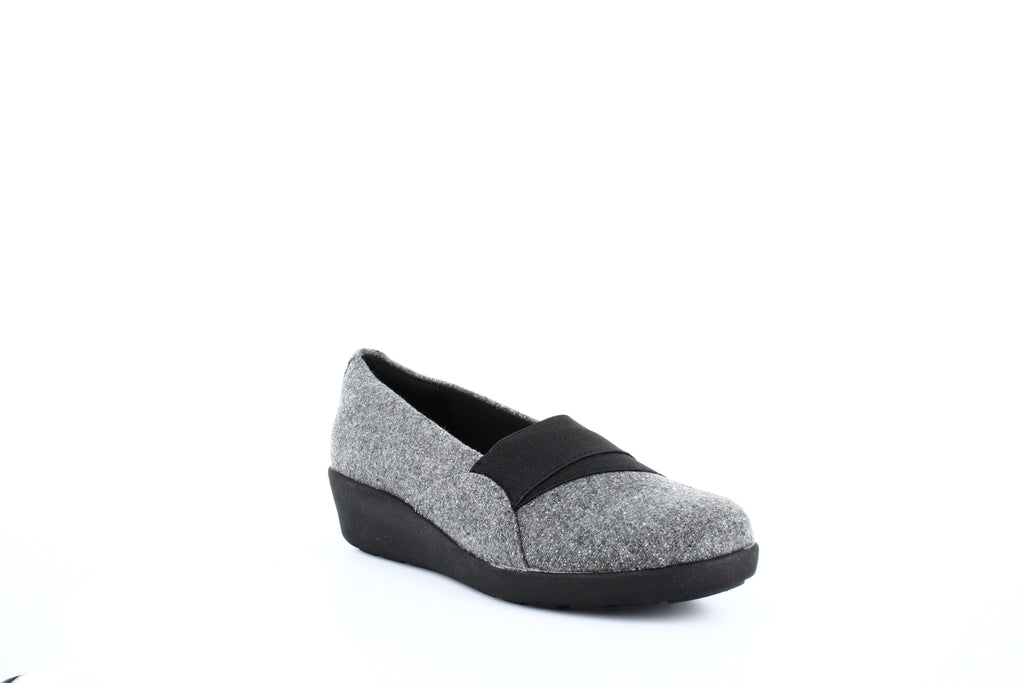 Yieldings Discount Shoes Store's Kaleo Loafers by E360 by Easy Spirit in Dark Grey/Black