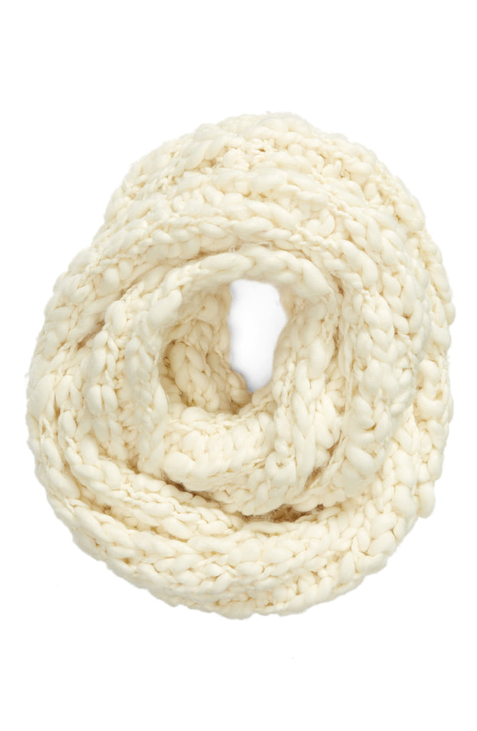 Yieldings Discount Accessories Store's Dreamland Chunky Knit Cowl by Free People in Ivory