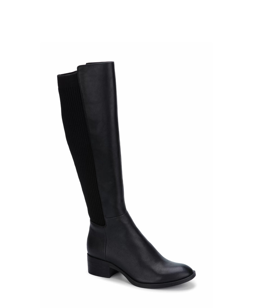 Yieldings Discount Shoes Store's Levon Tall Riding Boots by Kenneth Cole in Black