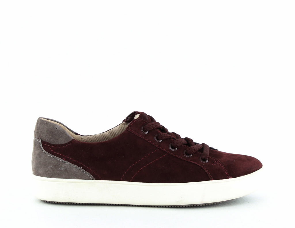 Yieldings Discount Shoes Store's Morrison Suede Sneakers by Naturalizer in Bordeaux