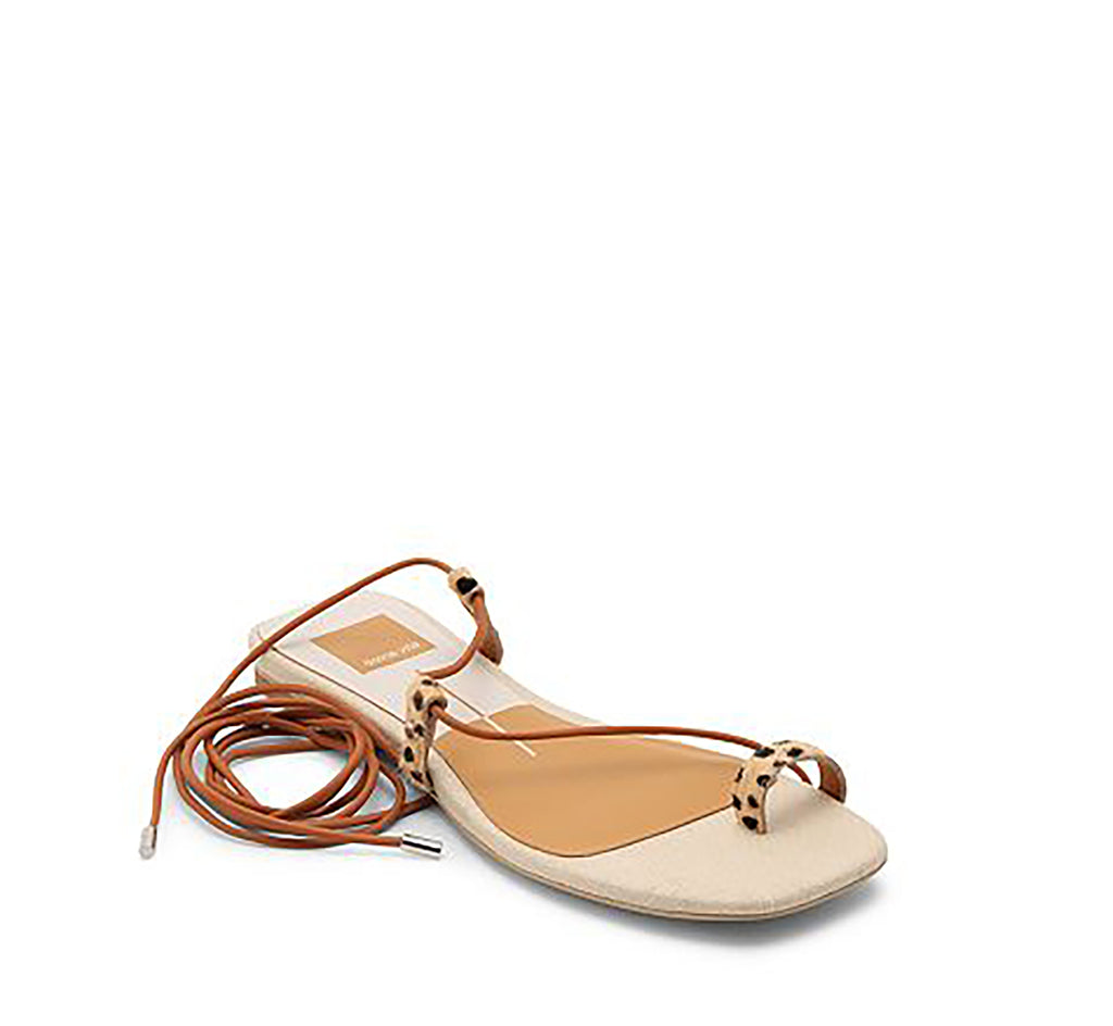 Yieldings Discount Shoes Store's Dash Flat Sandals by Dolce Vita in Leopard Calf Hair