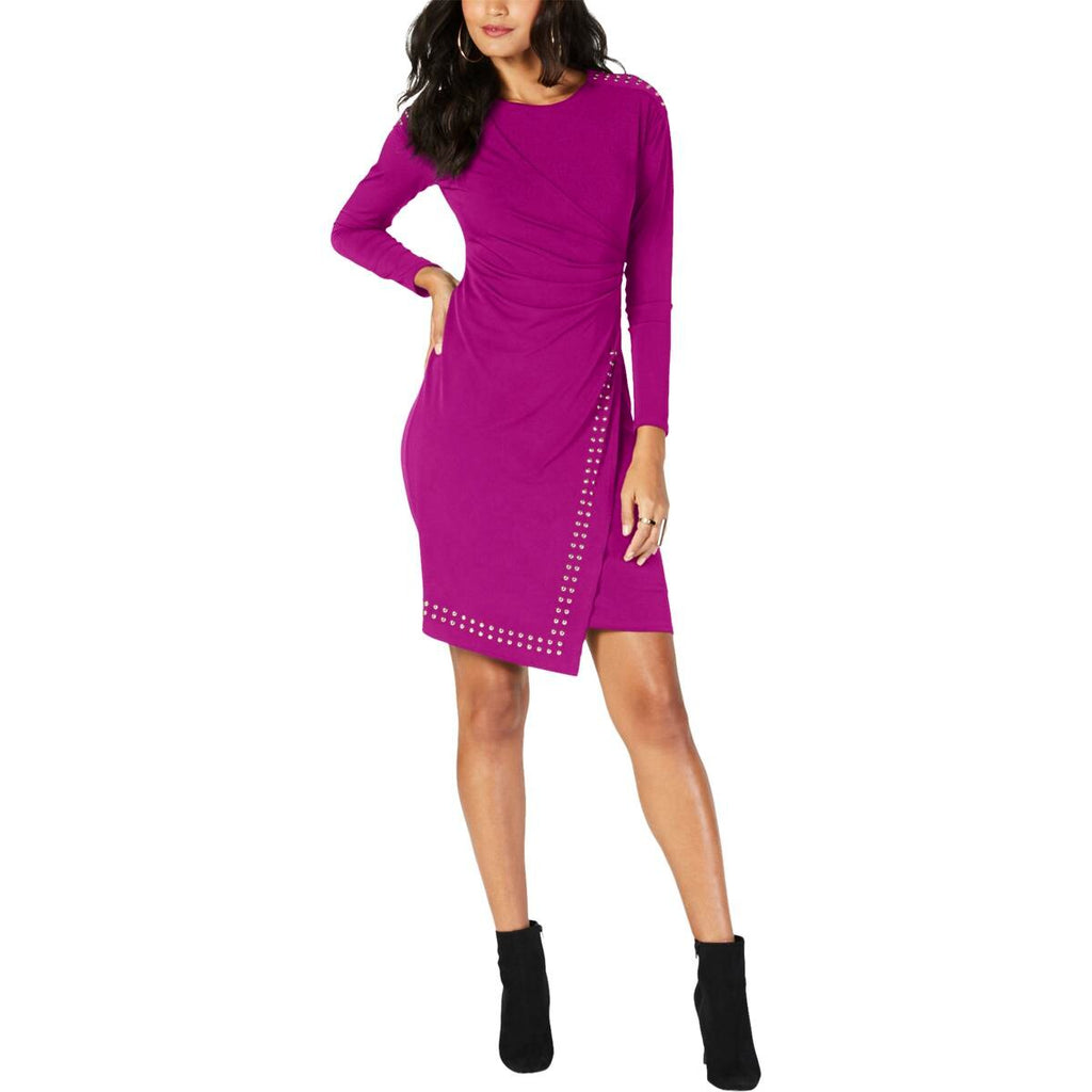Yieldings Discount Clothing Store's Studded Party Wrap Dress by Thalia Sodi in Majestic Plum