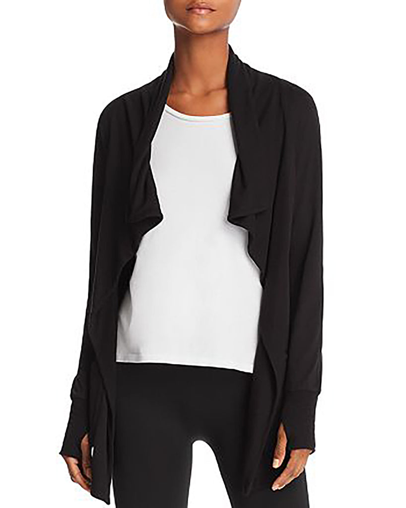 Yieldings Discount Clothing Store's Stretch Fitness Cardigan by Aqua in Black