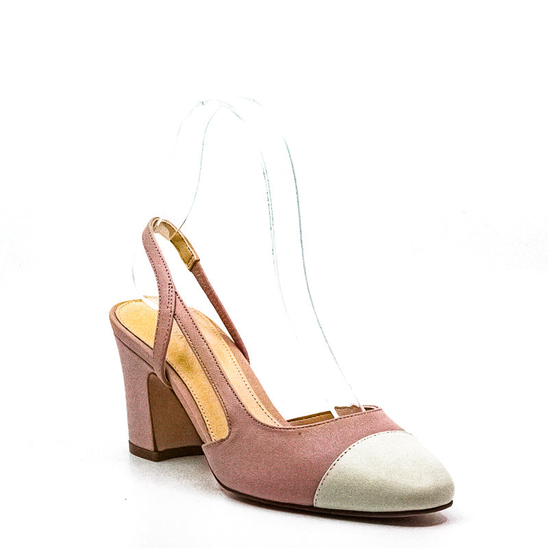 Yieldings Discount Shoes Store's Liah Leather Block Slingback Pumps by Ivanka Trump in Pink