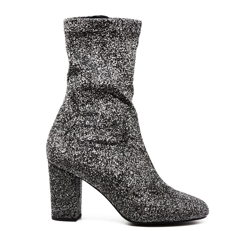 Yieldings Discount Shoes Store's Alyssa Block Heel Boots by Kenneth Cole in Pewter