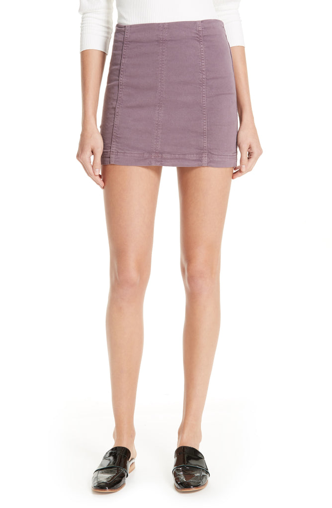Yieldings Discount Clothing Store's Mulberry Modern Femme Denim Skirt by Free People in Mulberry