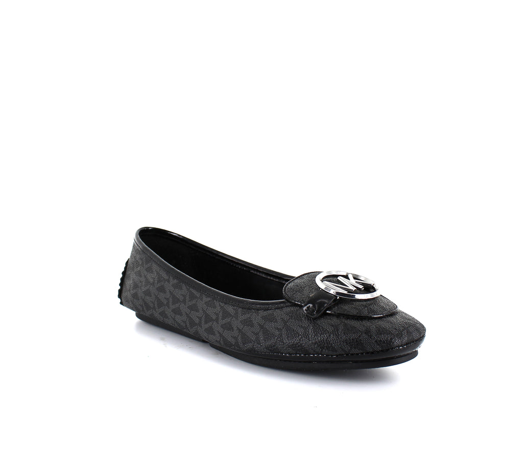 Yieldings Discount Shoes Store's Lillie Moccasin Flats by MICHAEL Michael Kors in Black