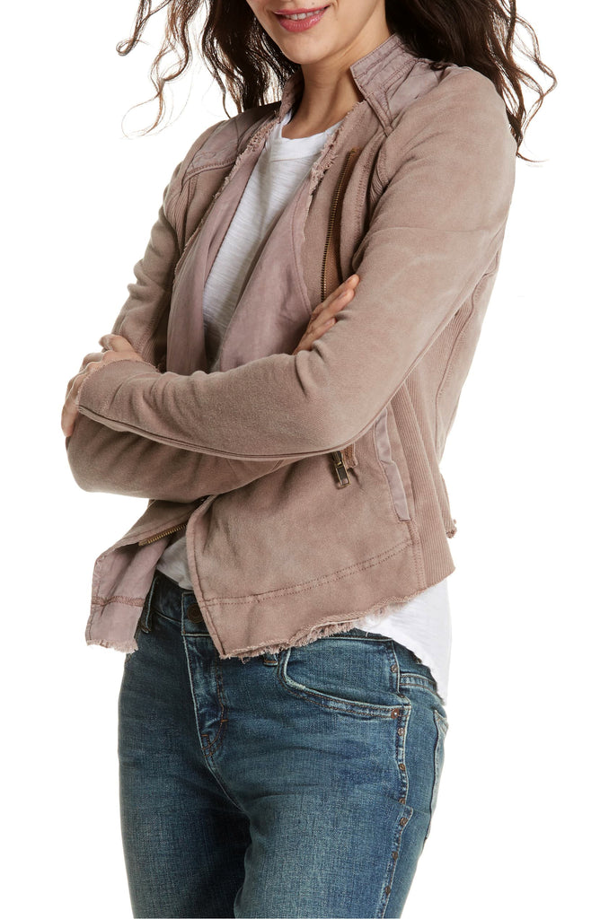 Yieldings Discount Clothing Store's Cotton Moto Jacket by Free People in Taupe