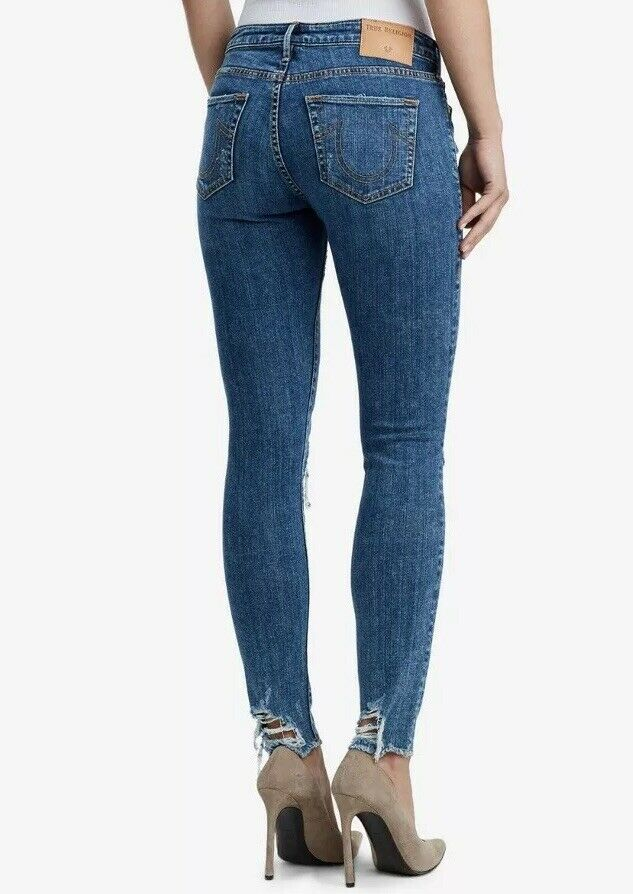 Yieldings Discount Clothing Store's Halle Double Destroy Jeans by True Religion in Marbled Earth