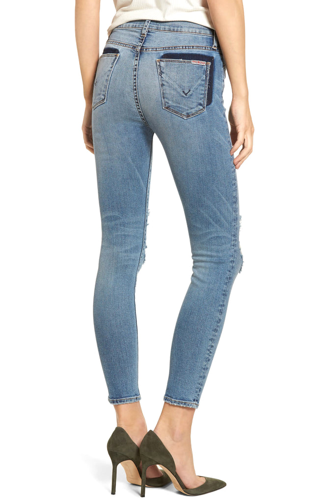 Yieldings Discount Clothing Store's Barbara High Waist Super Skinny Ankle Jeans by Hudson in Confection