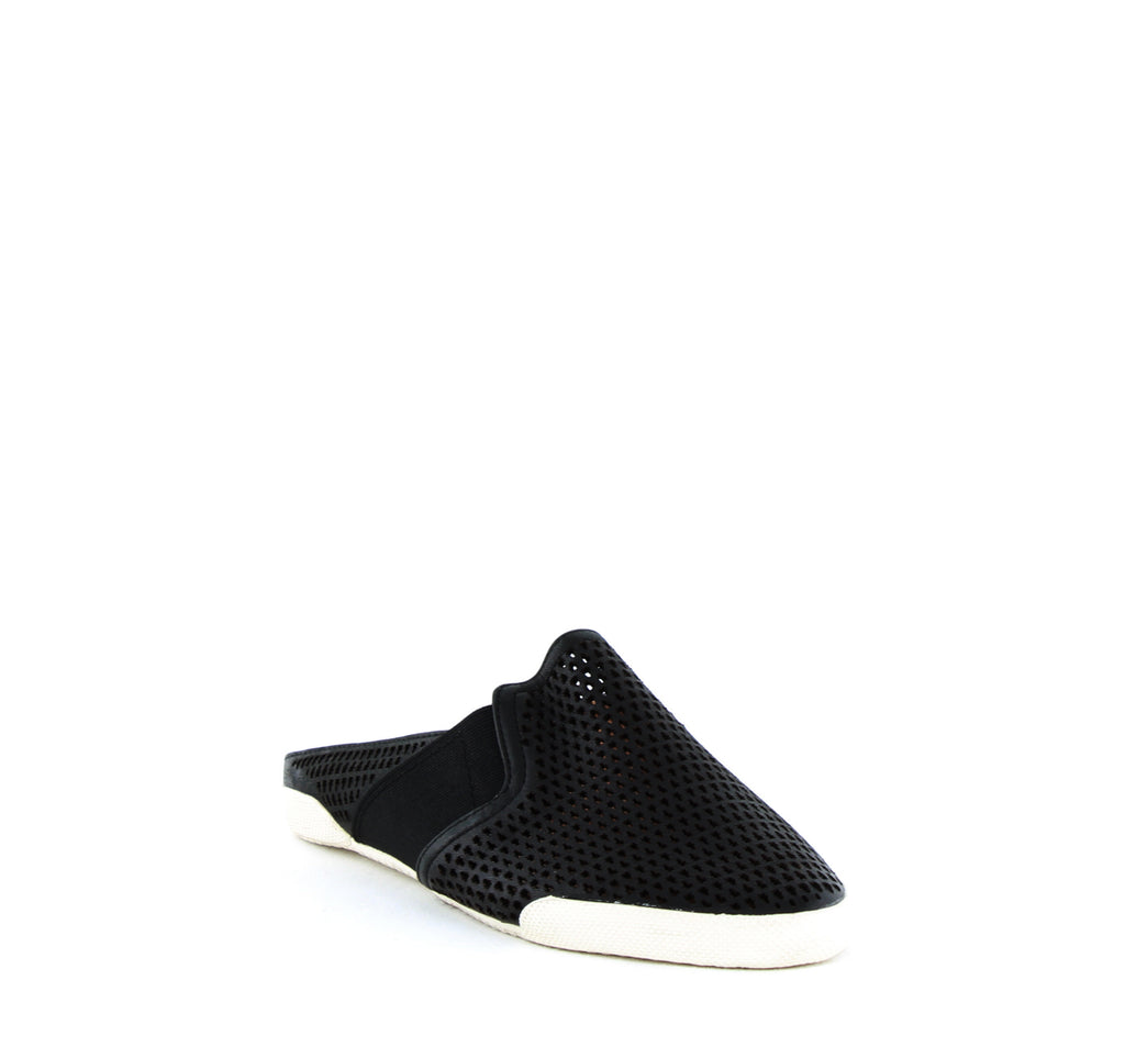 Yieldings Discount Shoes Store's Melanie Perforated Slip-On Flats by Frye in Black