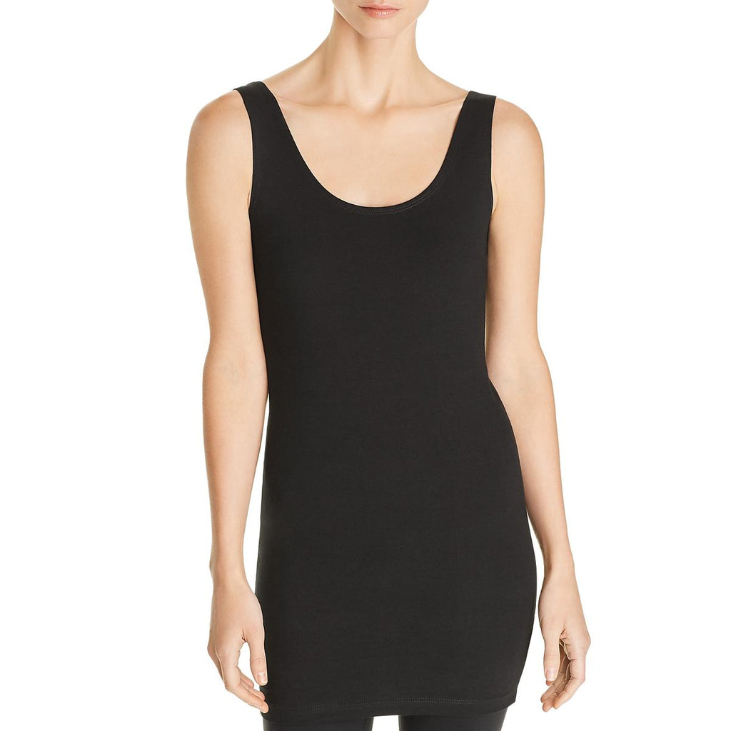 Yieldings Discount Clothing Store's Solid Stretch Tank Top by Lysse in Black