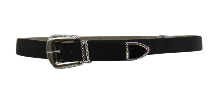 Yieldings Discount Accessories Store's Western Saffiano Belt by Steve Madden in Black