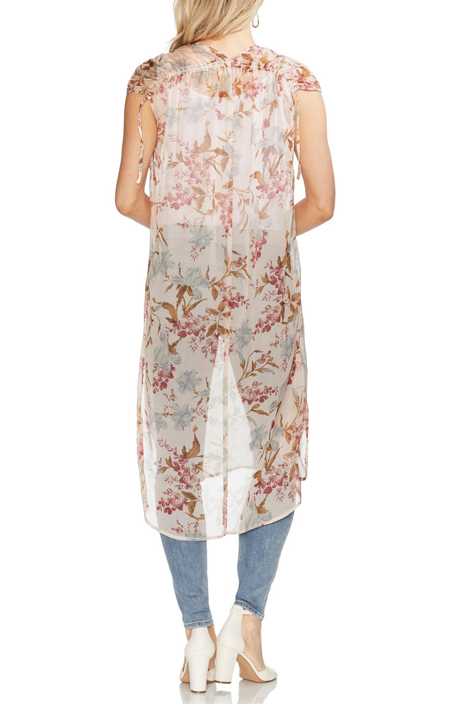 Yieldings Discount Clothing Store's Wildflower Shirttail Tunic by Vince Camuto in Pearl Ivory