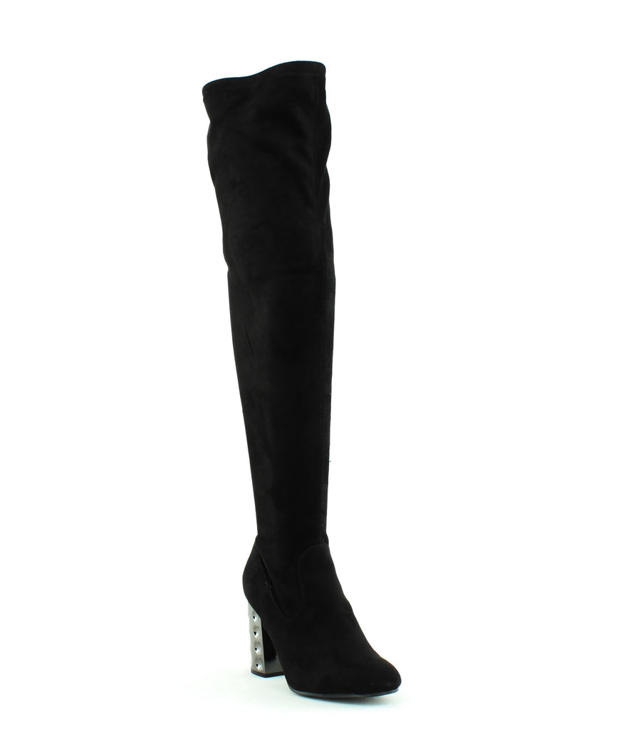Yieldings Discount Shoes Store's Quantum Wide Calf Over-The-Knee Boots by Carlos by Carlos Santana in Black