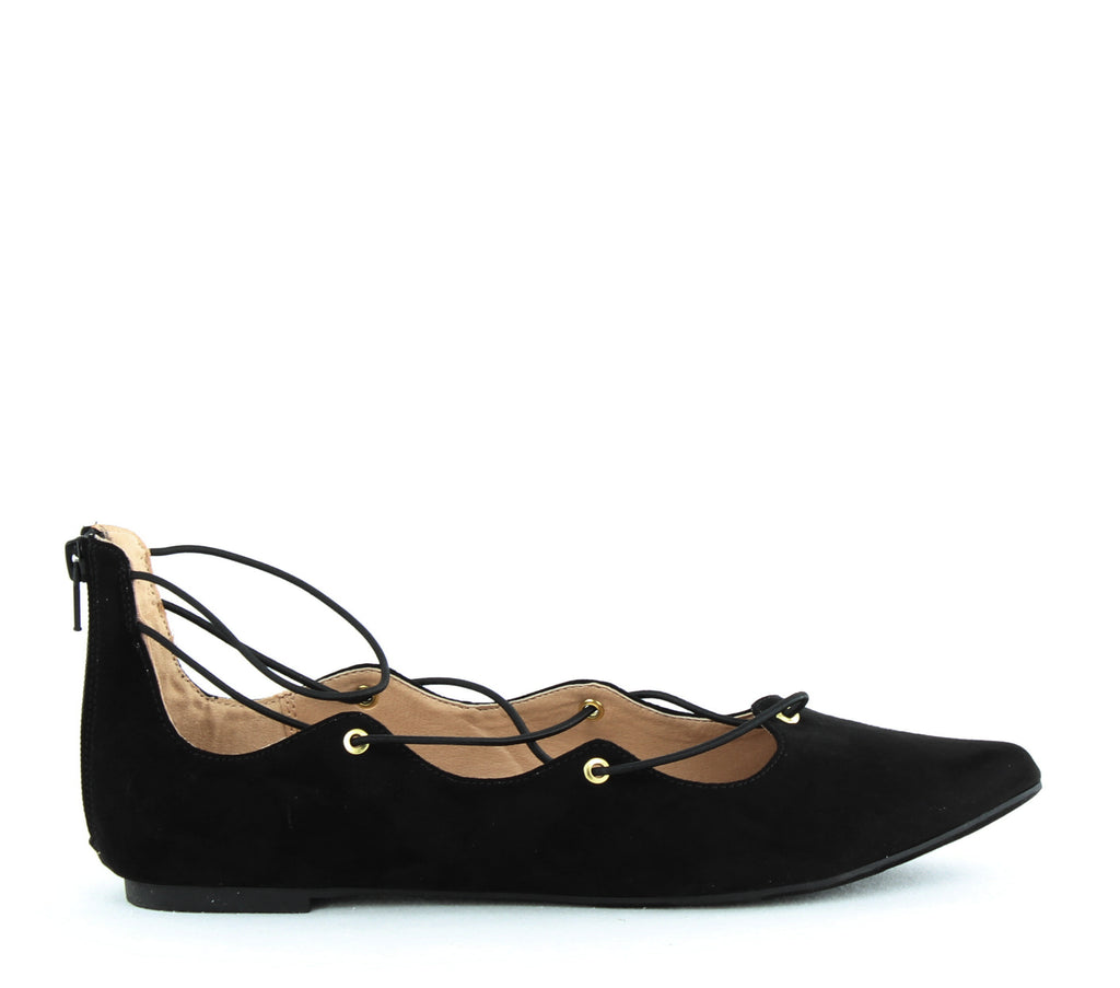 Yieldings Discount Shoes Store's Ibby Ballet Flat by Material Girl in Black