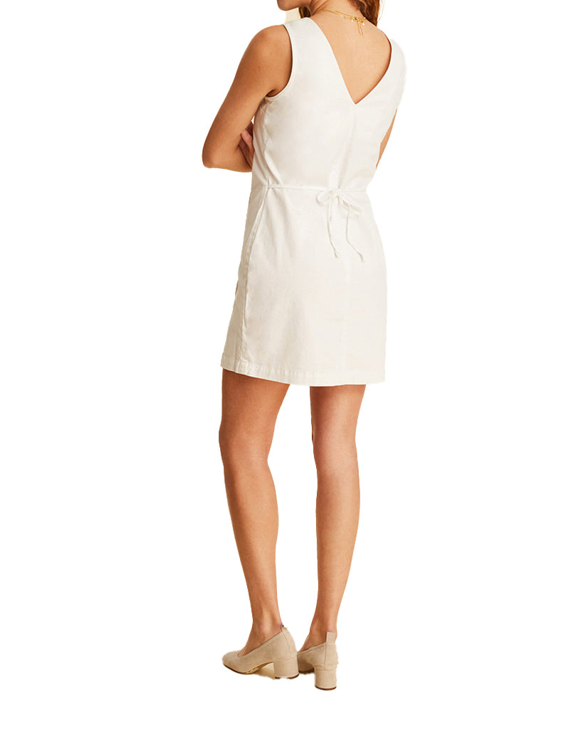 Yieldings Discount Clothing Store's HTO - Button Front Dress by Warp + Weft in White