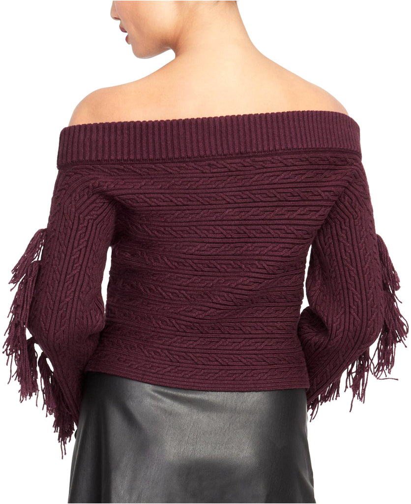 Yieldings Discount Clothing Store's Off-The-Shoulder Sweater by RACHEL Rachel Roy in Royal Orchid