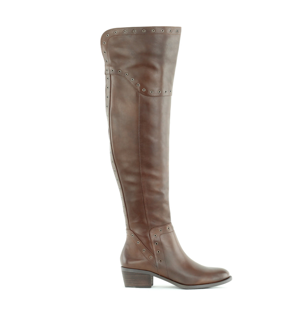 Yieldings Discount Shoes Store's Bestan Over The Knee Riding Boots by Vince Camuto in Carob