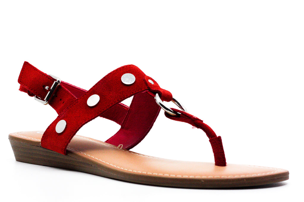 Yieldings Discount Shoes Store's Talley Wedge Sandals by Carlos by Carlos Santana in Crimson Red