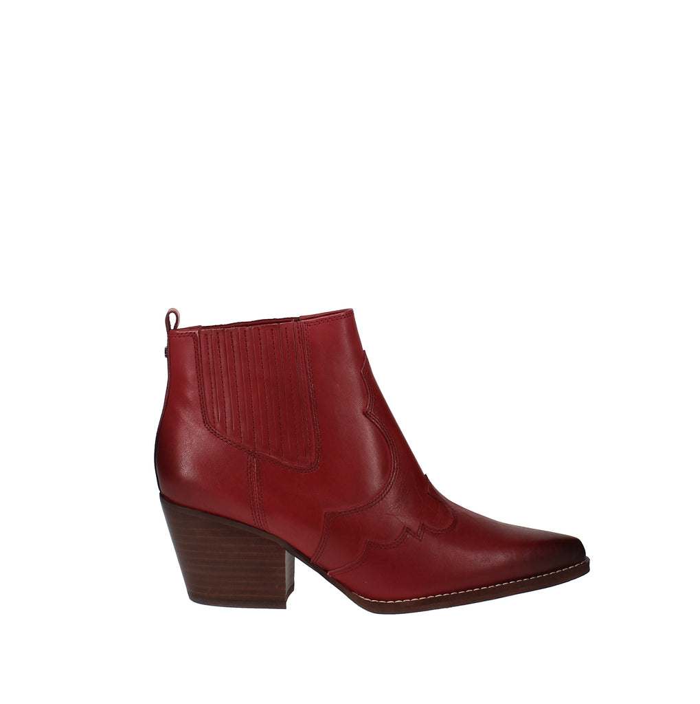 Yieldings Discount Shoes Store's Winona Western Booties by Sam Edelman in Passion Red