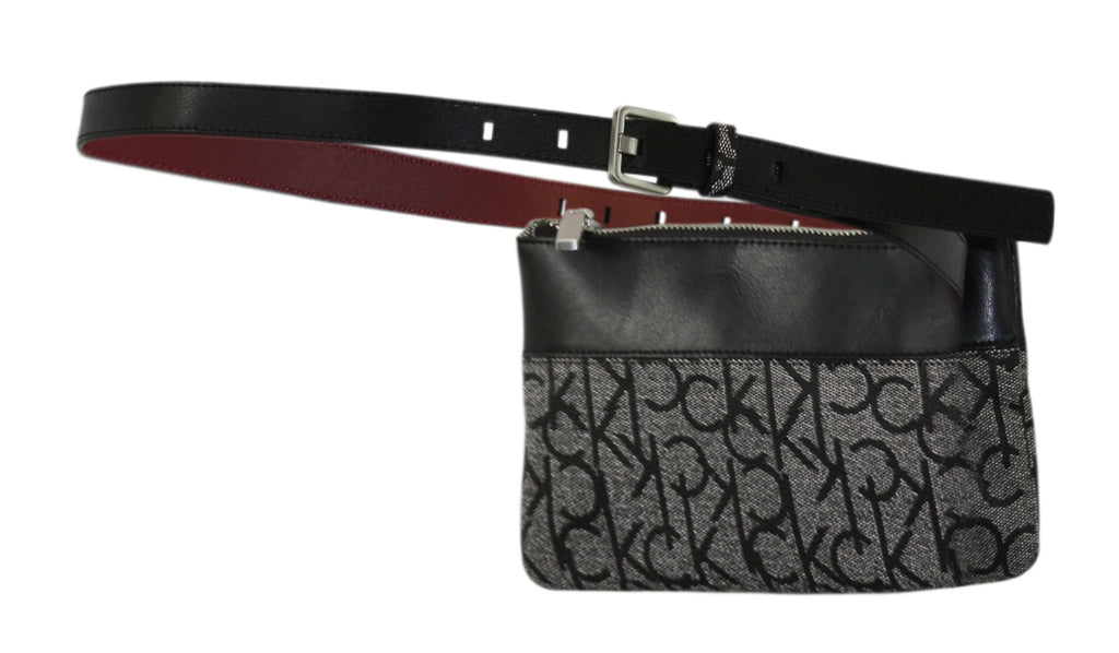Calvin Klein | Leather-Trim Monogram Belt Bag