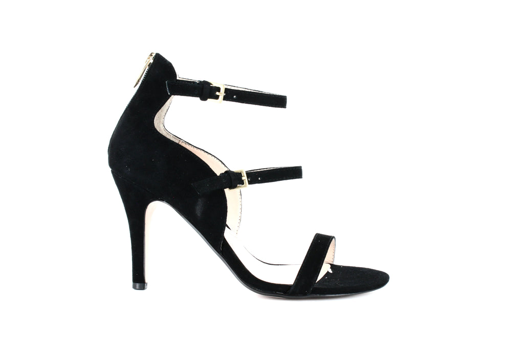 Yieldings Discount Shoes Store's Georgino Ankle Strap Sandals by Adrienne Vittadini in Black