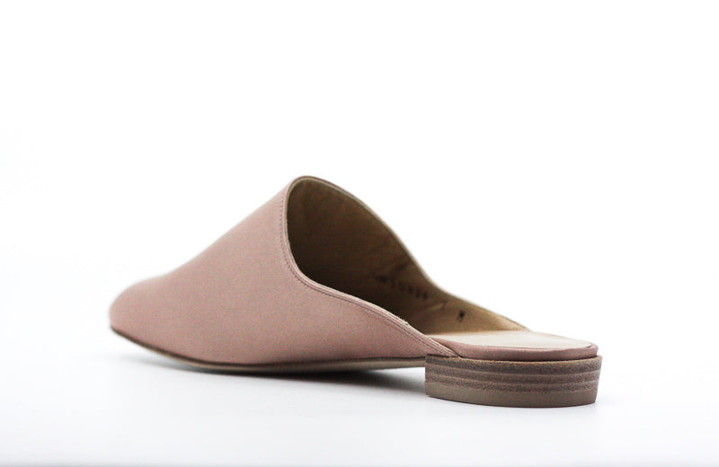 Yieldings Discount Shoes Store's Mulearky Slip-On Flats by Stuart Weitzman in Adobe Satin
