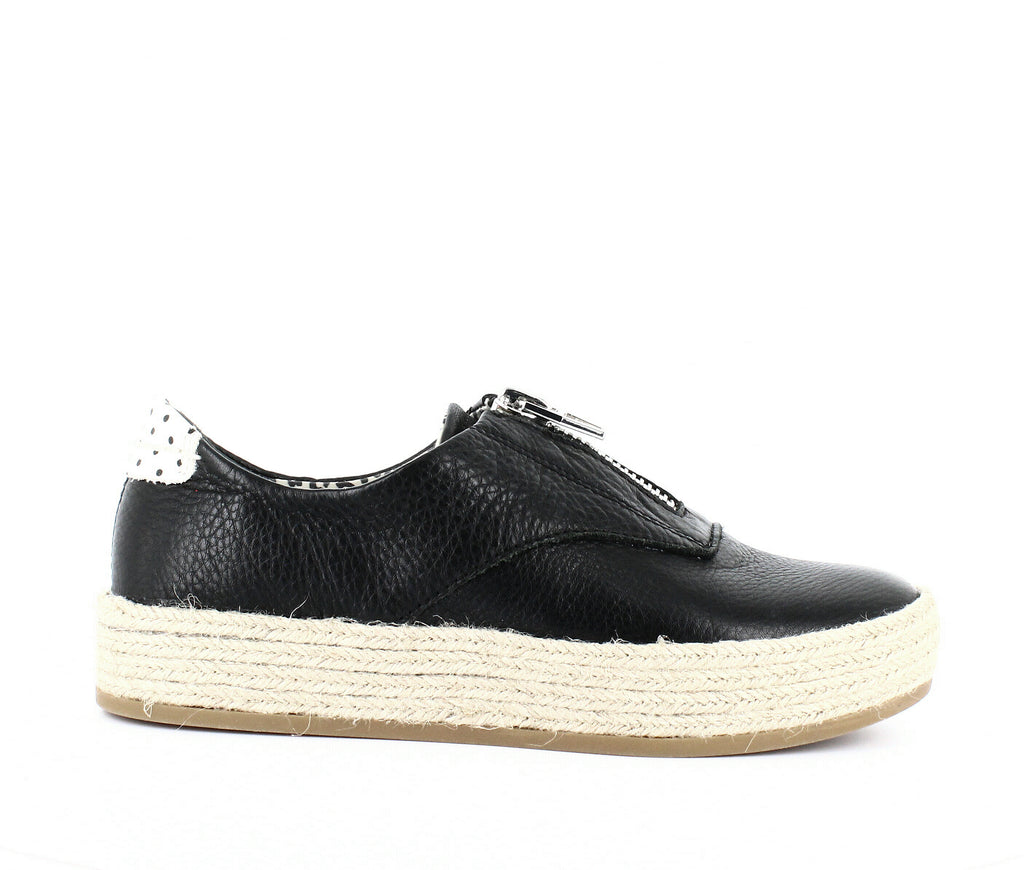 Yieldings Discount Shoes Store's Trae Zipper Espadrille Sneakers by Dolce Vita in Black Leather