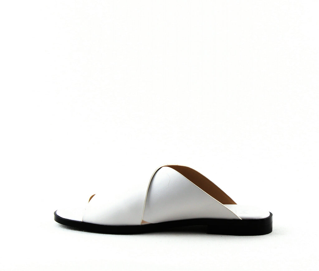 Yieldings Discount Shoes Store's Idinia Slide Sandals by Marc Fisher LTD in White