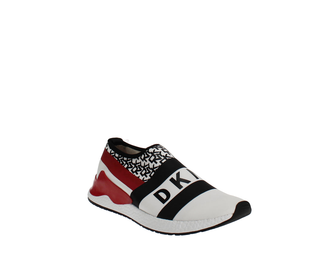 Yieldings Discount Shoes Store's Reese Slip On Sneakers by DKNY in White/Black