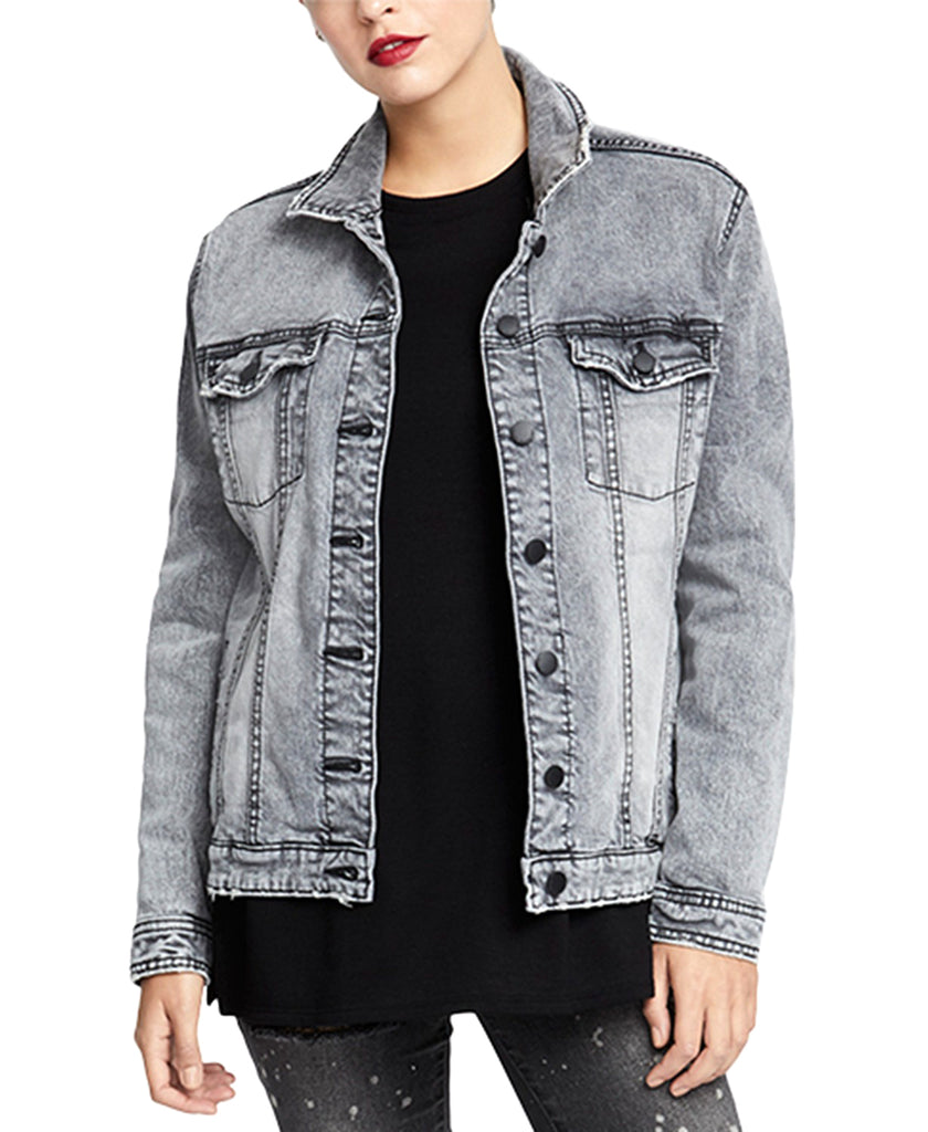 RACHEL Rachel Roy | Oversized Denim Trucker Jacket