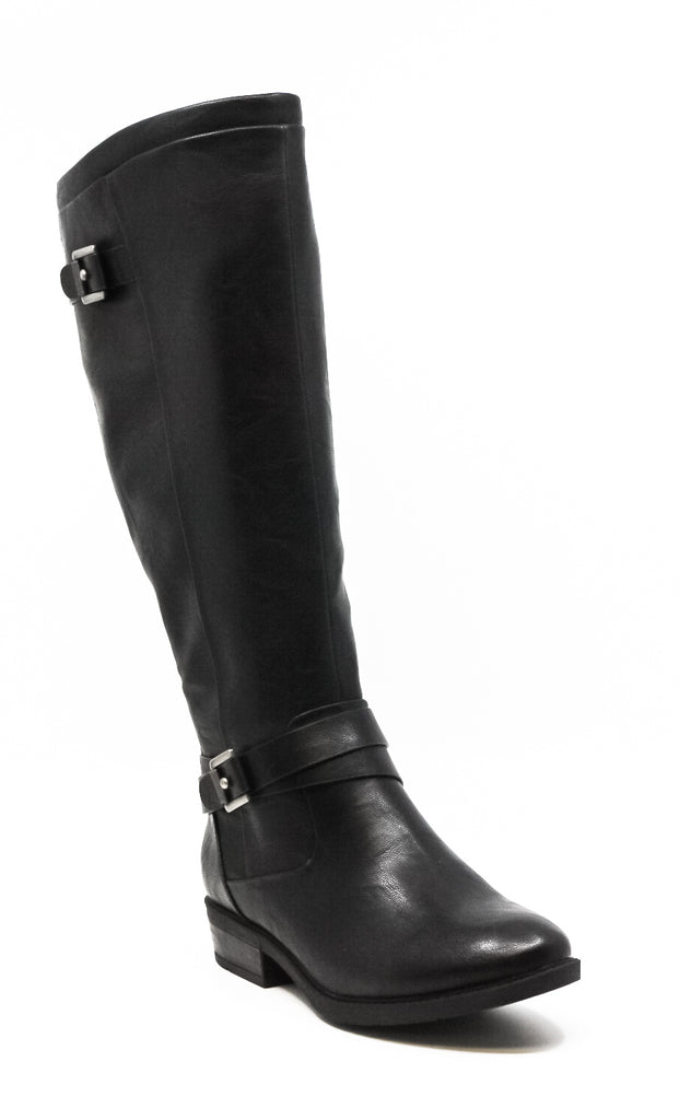 Yieldings Discount Shoes Store's Yalina 2 Wide Calf Knee High Boots by Baretraps in Black