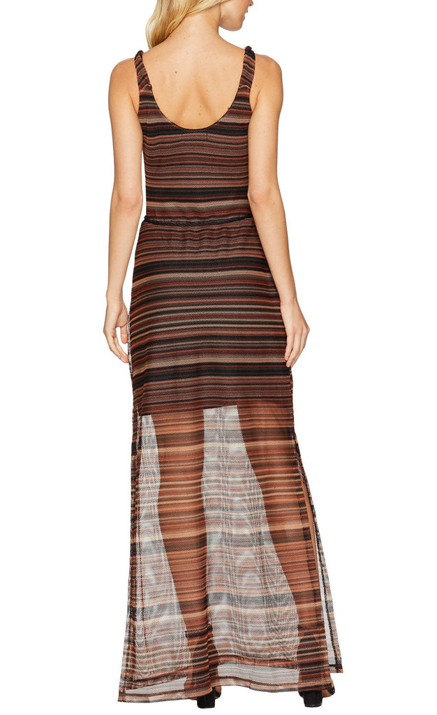 Yieldings Discount Clothing Store's Horizon Striped Maxi Dress by Sanctuary in Desert Escape
