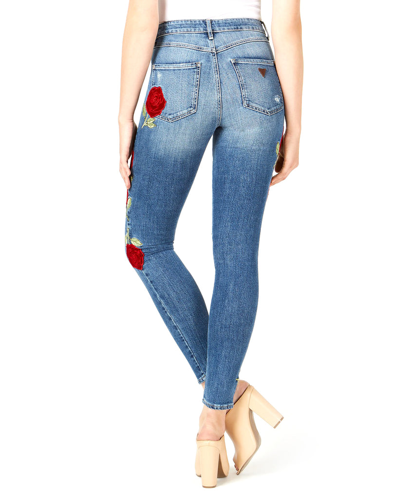 Yieldings Discount Clothing Store's Velvet Rose 1981 Skinny Jeans by Guess in Waverly Wash