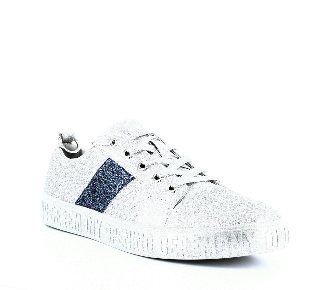 Yieldings Discount Shoes Store's La Cienega Glitter Sneakers by Opening Ceremony in Silver