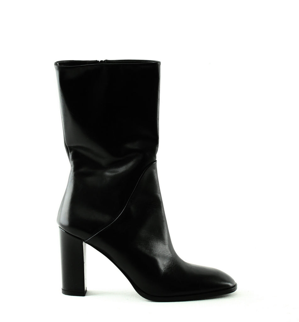Yieldings Discount Shoes Store's Adrinna Mid Calf Boots by Via Spiga in Black