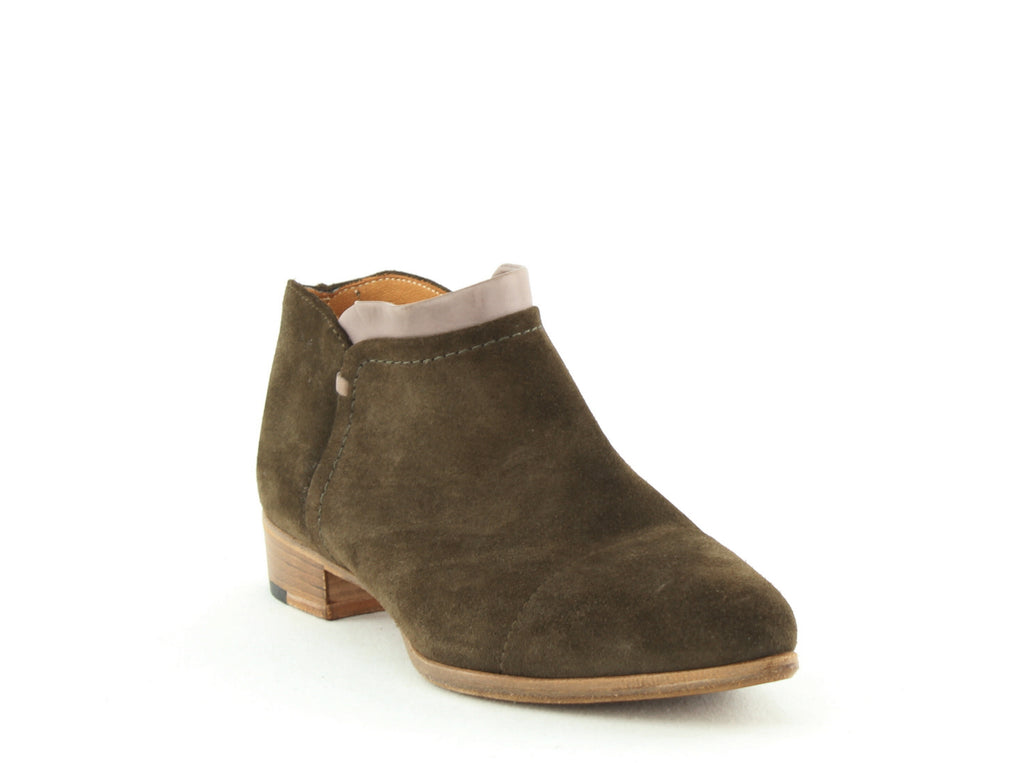 Yieldings Discount Shoes Store's Serafina Ankles Booties by Alberto Fermani in Olive