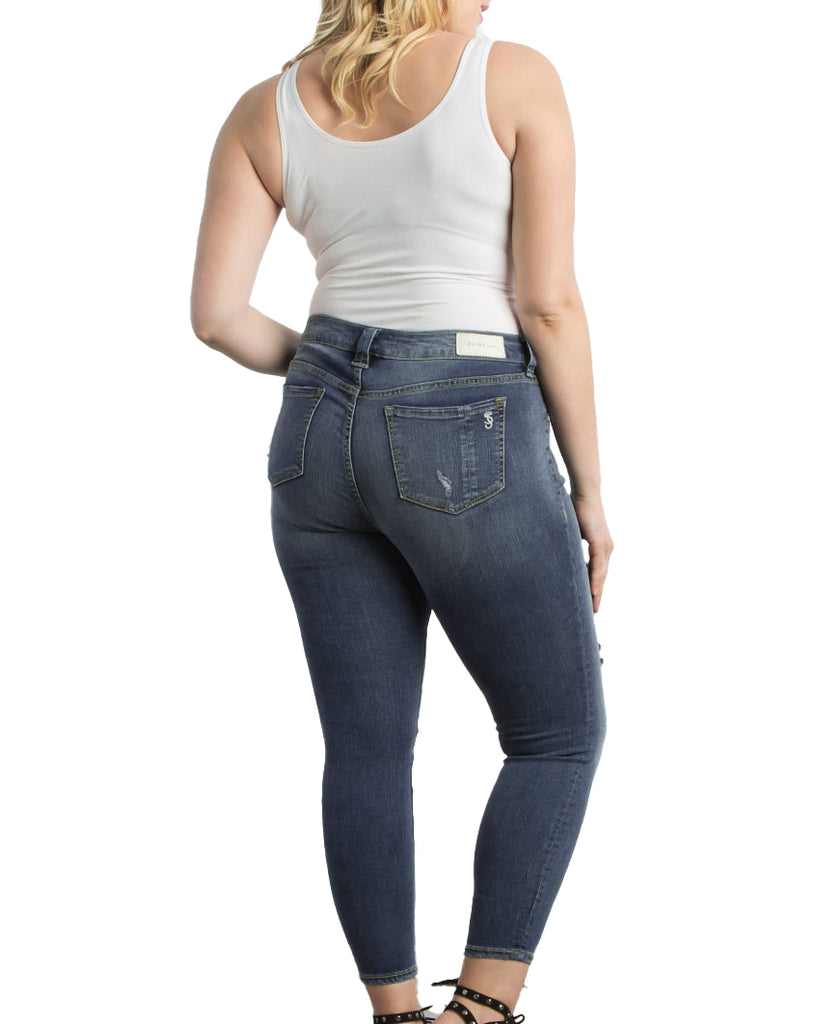Yieldings Discount Clothing Store's Ankle Slim Jegging by Slink Jeans in Danika Wash