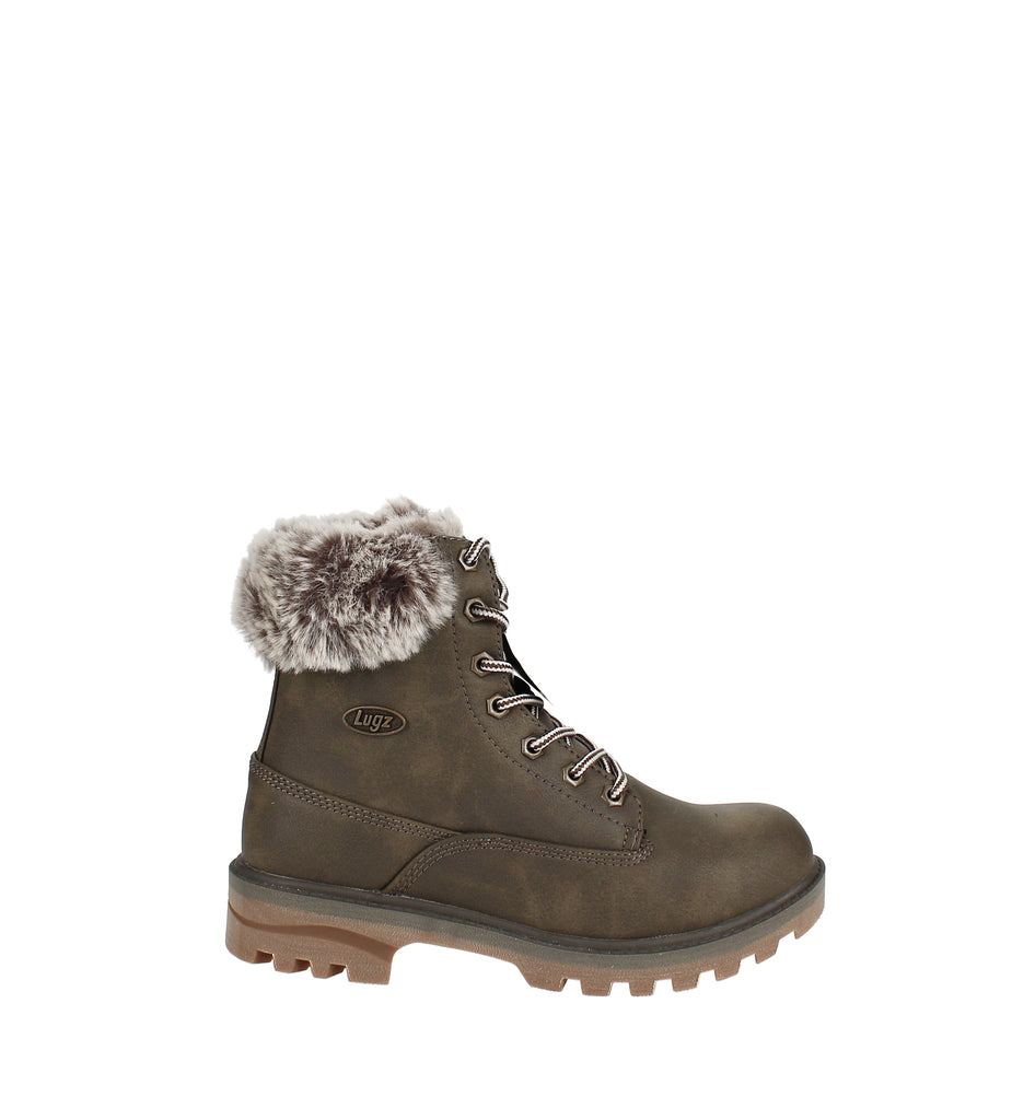 Yieldings Discount Shoes Store's Empire Hi Fur Classic Chukka Boot by Lugz in Woodland