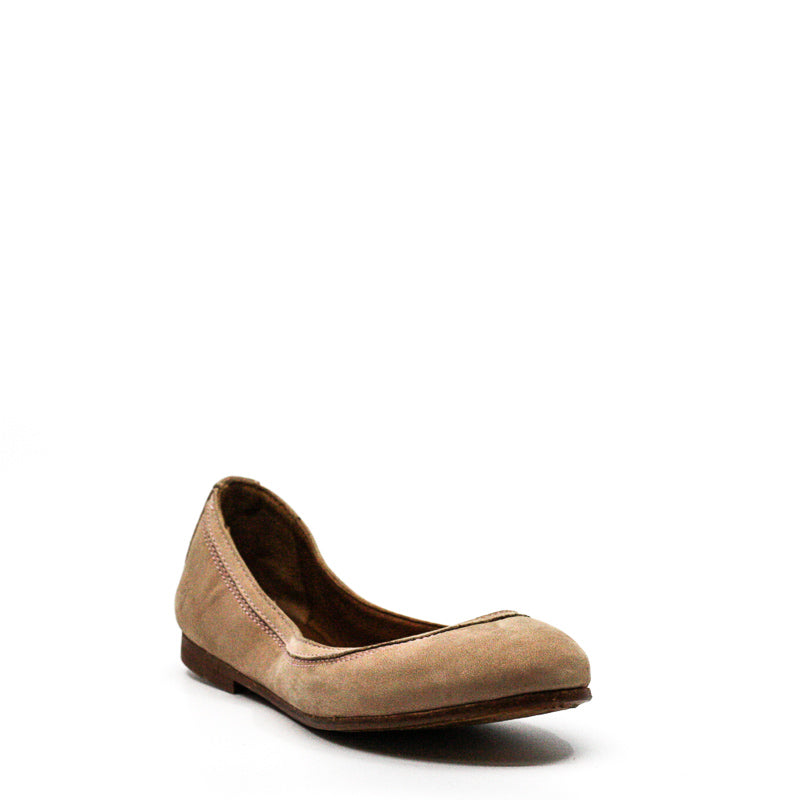 Yieldings Discount Shoes Store's Carson Ballet Slippers by Frye in Blush