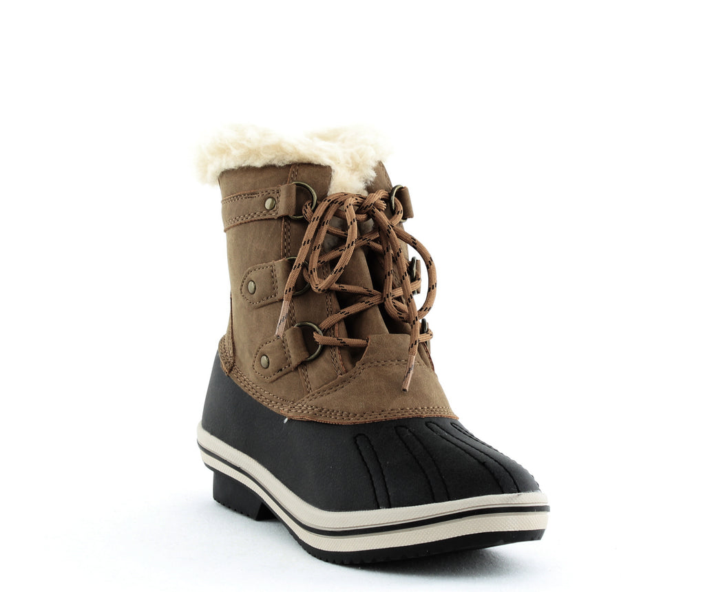 Yieldings Discount Shoes Store's Gina Duck Boot by Pawz in Hickory II